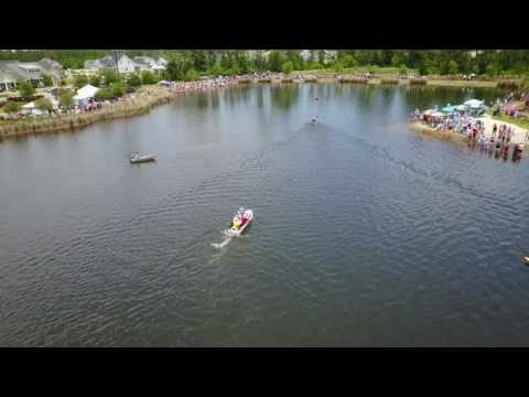 Watch the race across Hammock Lake