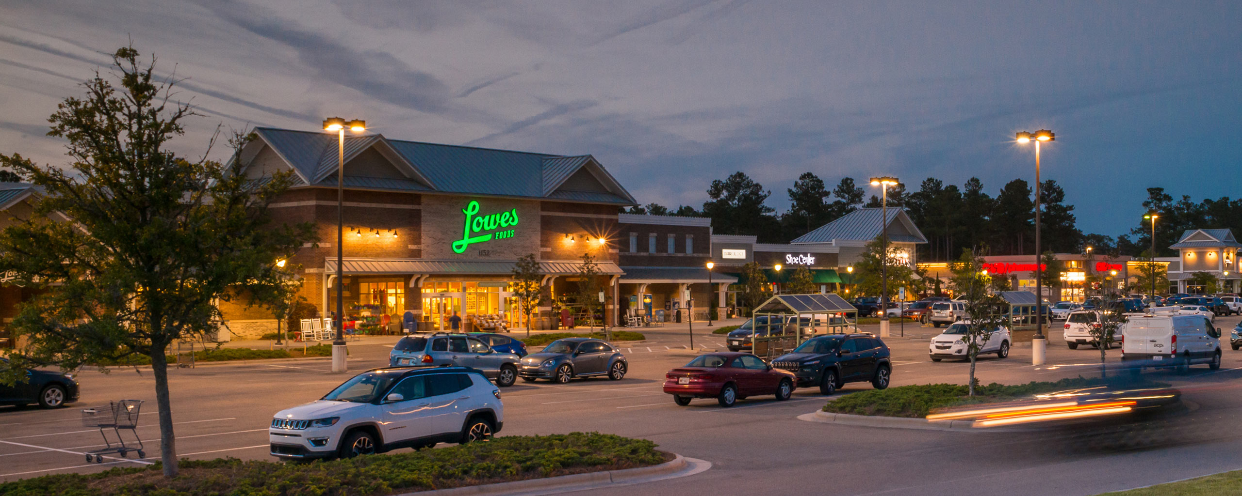 Exterior Building of Lowes Foods at Night