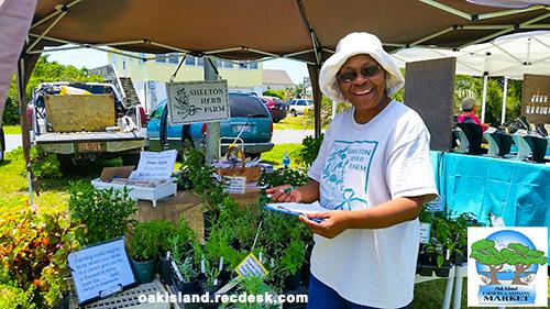 Vendor posing at the Oak Island Farmer's Market