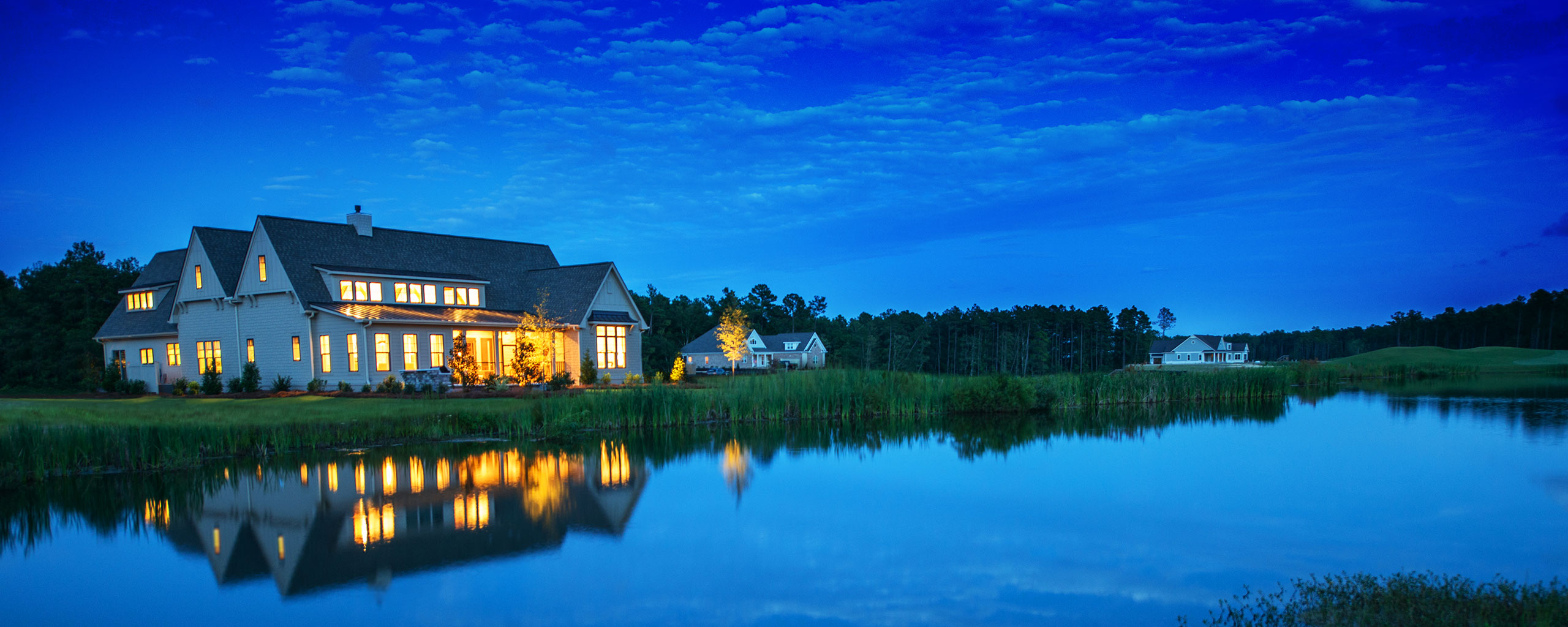 Large beautiful house on the golf course