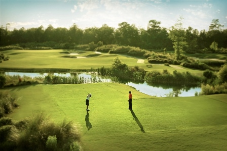 People Teeing off at Cape Fear National Golf Course