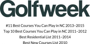 Golfweek #11 Best Courses You Can Play in NC 2013-2015