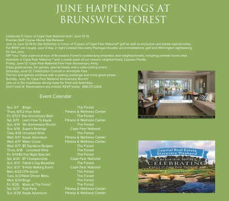JUNE EVENTS 2015