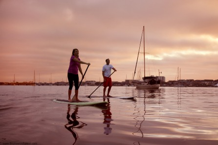 Stand Up Paddle Boarding at Sunrise