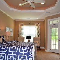 The master suite of the Plum Island at Brunswick Forest