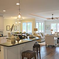 The open floor plan of the Blue Heron II at Brunswick Forest