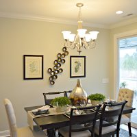 The dining area in the Blue Heron II at Brunswick Forest