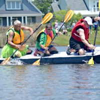Cardboard Boat Regatta At Brunswick Forest ACTION SHOT RACE
