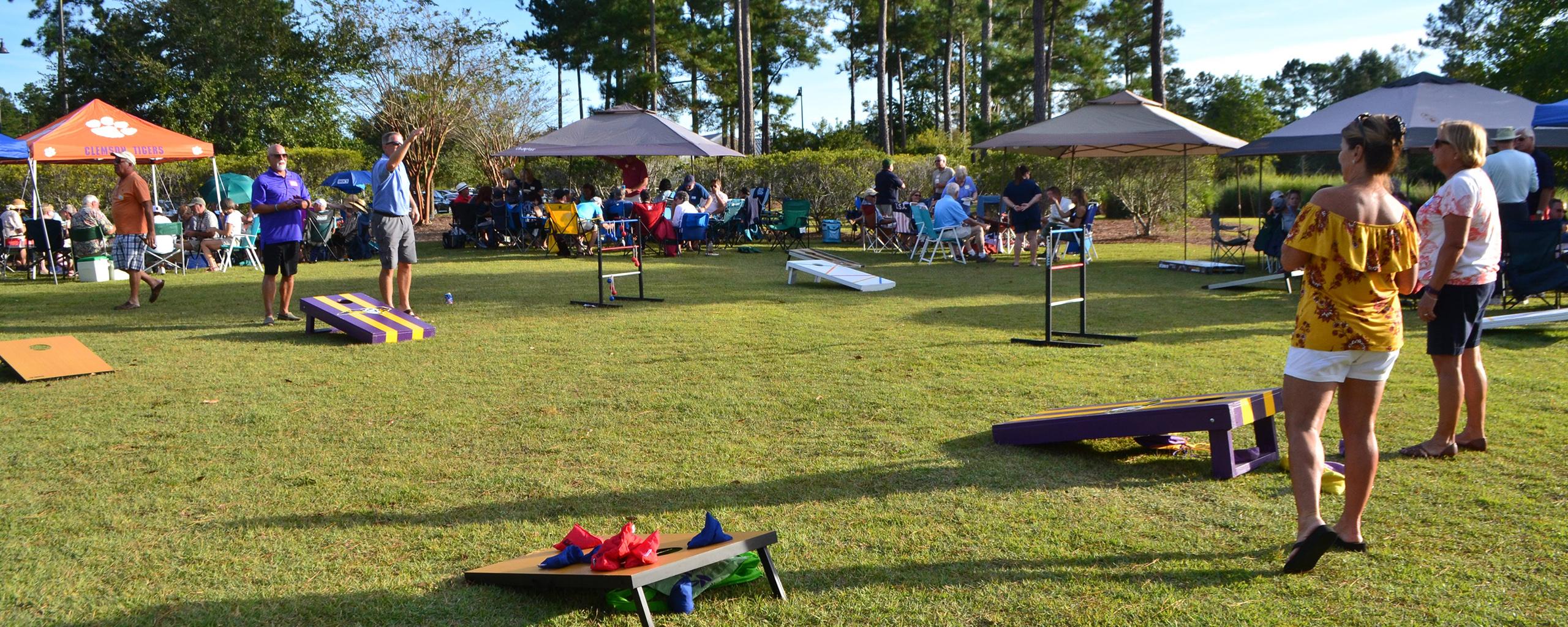 outdoor park concert